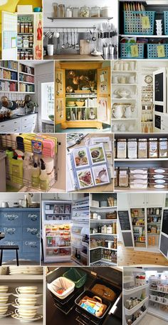 kitchen organization ideas. I like the flat storage containers for my baking cupboard.