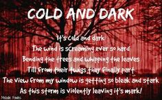 """""""Cold And Dark"""" #Creative #Art in #poetry @Touchtalent http://bit.ly/Touchtalent-p"""