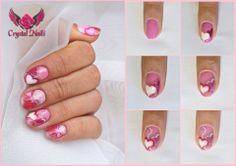 #valentinesday #valentine #love #nails #gelpolish #heart #diy #stepbystep #tutorial