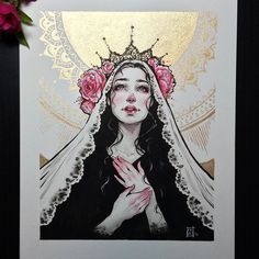 "18.1k Likes, 193 Comments - ⠀⠀⠀⠀⠀⠀⠀⠀~LYdia FEnwick~ (@lyfeillustration) on Instagram: """"Annunciation"" is now done! Prints and original are now in my shop (link in IG bio and…"""