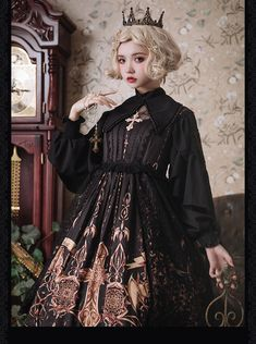 Susin -The Pilgrimage- Vintage Classic Lolita JSK,Lolita Dresses, Moda Lolita, Gothic Lolita Fashion, Looks Vintage, Vintage Stuff, Character Outfits, Lolita Dress, Kawaii Fashion, Japanese Fashion, Look Cool