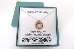 online shopping for Birthday Gift Women 80th Birthday Gifts, Birthday Gifts For Women, Gold Birthday, Merry Christmas Happy Hanukkah, Happy Birthday Grandma, Necklace Online, Rose Gold Jewelry, Message Card, Happy Valentines Day