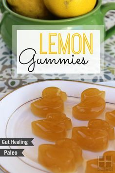Homemade Lemon Gummy Bears Recipe What you will need to make your own healthy gummy bears: cup fresh squeezed lemon juice 3 Tbsp grass fed gelatin (where to get quality gelatin) 2 Tbsp raw honey (or stevia equiv) Homemade Gummy Bears, Homemade Gummies, Fruit Snacks, Healthy Snacks, Healthy Candy, Kid Snacks, Lunch Snacks, Collagen Rich Foods, Real Food Recipes
