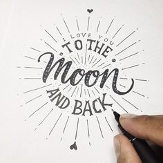My Hand Lettering 2014 on Behance #typography #type #lettering  > The childhood memories this brings back are so cute, who else said this to their mum or someone else when they were younger?