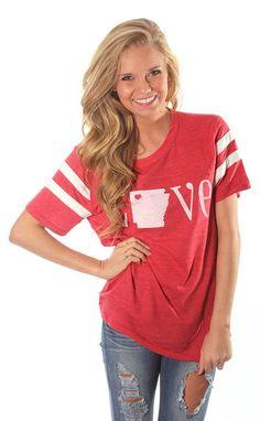 Riffraff   double stripe alternative retro love Arkansas - red