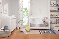 babyletto Sprout 4-in-1 Convertible Crib with Toddler Bed Conversion Kit in white for the modern nursery
