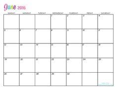 Custom Editable Free Printable 2016 Calendars - Sarah Titus