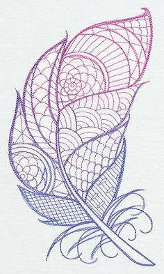 Fancy feather urban threads unique and awesome embroidery designs Embroidery Patterns Free, Floral Embroidery, Embroidery Stitches, Machine Embroidery, Embroidery Designs, Pyrography Patterns, Doodle Inspiration, Doodle Ideas, Urban Threads