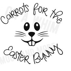 SALECarrots for the Easter Bunny SVG for by OnAwhimMugsNmore