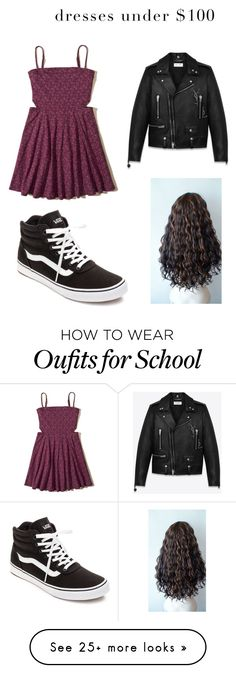 """""""School outfit"""" by imsoutherndarling on Polyvore featuring Hollister Co., Yves Saint Laurent and Vans"""