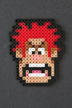 Wreck It Ralph in 8 bit Perler Beads