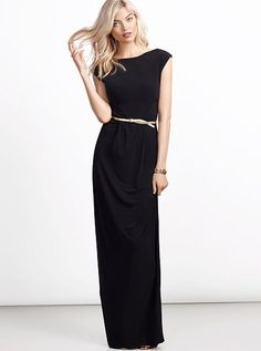 Cap-sleeve Maxi Dress from vs... belt it with a gold belt like from the mark. belt it out trio