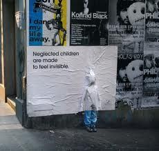 """street art in Australia  """"Children are made to feel invisible."""""""