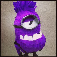 Purple minion piñata. www.pinataspinatas.com Minion Pinata, Purple Minions, Character