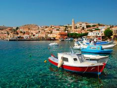 No matter where you're standing on the Grecian island of Halki, you're within walking distance of the Emporio -- the port where fishing boat captains exchange fables from their excursions to the nearby island of Rhodes,