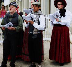 Yuletide carols sung by a choir