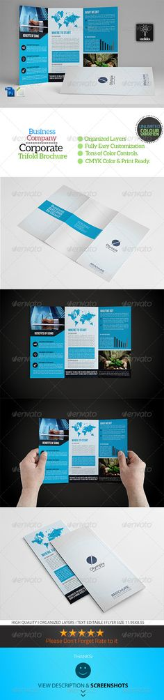 Trifold Brochure by FathurFateh on @creativemarket Graphic - free tri fold brochure templates word