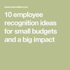 Leaders understand that recognition impacts engagement, productivity and retention, here are 10 budget-friendly ideas for making employees feel appreciated. Employee Rewards, Incentives For Employees, Employee Morale, Employee Appreciation Gifts, Employee Gifts, Teacher Appreciation Week, Staff Morale, Volunteer Appreciation, Happy Employees