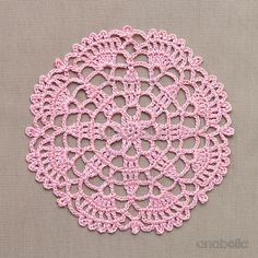 Crochet lace motifs free patterns by Anabelia Craft Design