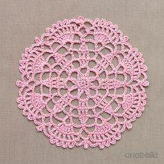 Crochet lace mini-doily 🌸 Free pattern I #anabelia #crochet #doily #pattern
