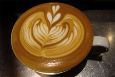 Latte art.  I will pretend I am about to drink this every time I see it.  And I will be happy.