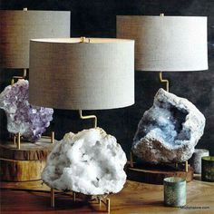 Stone lamps