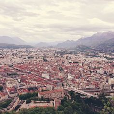 Grenoble: view from the Bastille