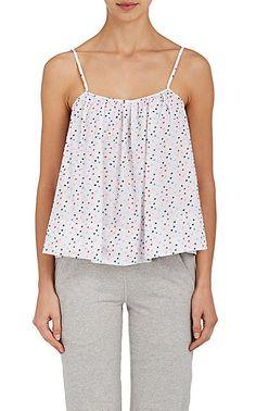 Sleepy Jones Nell Swiss Dot Cotton Pajama Top - Tanks & Tees - 505415991