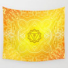 Solar Plexus Chakra Mandala Wall Tapestry Solar Plexus Chakra, Plexus Products, Tapestries, Wall Tapestry, Mandala, Tapestry, Upholstery, Mandalas, Wall Rugs