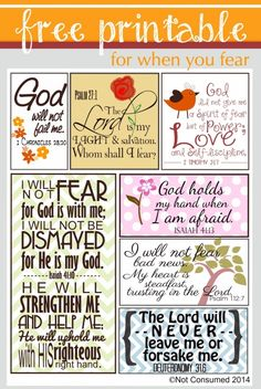 Bible verses to conquer fear.