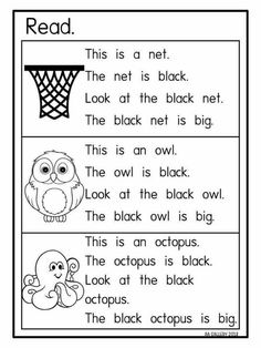 Reading for fives First Grade Reading Comprehension, Phonics Reading, Reading Comprehension Worksheets, Teaching Phonics, Phonics Activities, Reading Passages, Kindergarten Reading, Teaching Reading, Learning