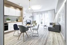 Otwarta przestrzeń w lekkim stylu skandynawskim