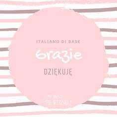 """Z cyklu italiano di base, czyli włoski od podstaw: GRAZIE = DZIĘKUJĘ 💐 Włosi używają też często zwrotu """"Grazie mille!"""" (""""Stokrotne dzięki!""""), gdy chcą wyrazić szczególną wdzięczność lub po prostu są wyraźnie podekscytowani i szczęśliwi, że mogli liczyć na Twoją pomoc 😄 Innym uroczym zwrotem jest """"Grazie di cuore"""", czyli polskie """"Dziękuję za całego serca"""" <3 #powłosku #italianodibase #formuledicortesia #italiano #polacco #włoski #polski Polish Language, Italia"""
