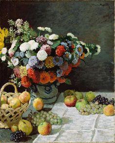 Claude Monet French Still Life 1869 Fine Art Wall Canvas Print
