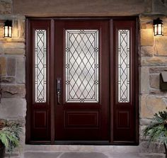 The Belleville in Mahogany by Masonite. Gorgeous Entry Door!