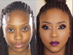 Bare to Glam Total Makeover | Makeup Transformation 5 •| Poised by Suliat - YouTube