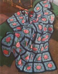 Best Free Crochet » Charleston Garden Crochet Afghan