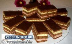 Receptneked.hu - Kipróbált receptek képekkel Hungarian Desserts, Hungarian Cake, Hungarian Recipes, Tiramisu, Goodies, Yummy Food, Sweets, Candy, Chocolate