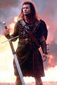 Braveheart: Mel Gibson starred in the film about William Wallace Mel Gibson William Wallace, Braveheart Quotes, Helloween Wallpaper, Scottish Warrior, Men In Kilts, Actrices Hollywood, Paramount Pictures, Iconic Movies, Film Movie