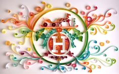 "Letter ""H"" Made By Paper, Looks like Hermes"