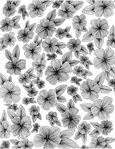 floral coloring page Leaf Coloring Page, Fruit Coloring Pages, Coloring Pages For Grown Ups, Abstract Coloring Pages, Heart Coloring Pages, Quote Coloring Pages, Pattern Coloring Pages, Printable Adult Coloring Pages, Flower Coloring Pages