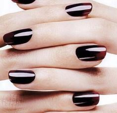 dark ombre nails. This would look great with my fair complexion.