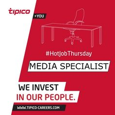 It's #HotJobThursday and we still have some empty chairs to fill! Marketing is looking for a Media Specialist. So if you are a strong team player with a passion for marketing and a very good understanding of the German media market don't hesitate and apply here: http://www.tipico-careers.com/vacancy/media-specialist/ #Career #Opportunity #Marketing #WeInvestInOurPeople
