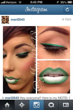 Saint patty day makeup