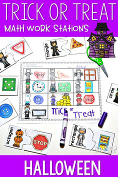 Math Work Stations with a Halloween theme! These stations are about Beginning Number Concepts numbers 1-20Activity cards can be used 4 different ways: sort, compare more and less, memory, and play Go Fish.Your students can play Spooky Numbers and Fraidy C