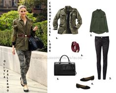 Get the camouflage look of Olivia Palermo - AllShopping