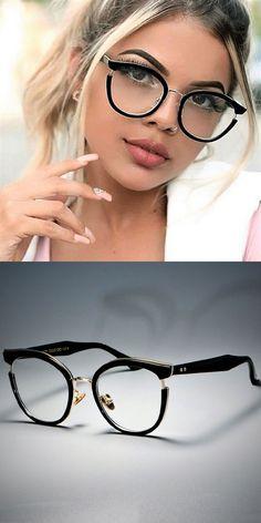 e4c330aa854 Women cat eye glasses frames optical eyeglasses fashion metal frame  prescription eyewear computer glasses 45376  alloy  women  solid  frames   eyewear   ...