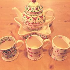 Emma Bridgewater Joy Personalised Four Cup Teapot 2012