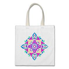 Tote Bag with Rangoli Pattern: $11.95 - http://www.zazzle.com/tote_bag_with_rangoli_pattern-149617599555163725?rf=238041988035411422