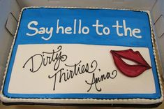 dirty thirty party ideas   Dirty Thirty Birthday Cake-Love this! - B. Lovely Events
